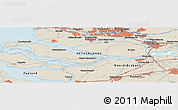 Shaded Relief Panoramic Map of Blankenburg