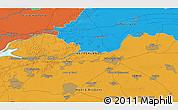 Political 3D Map of Schijndel