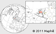 Blank Location Map of 's-Hertogenbosch