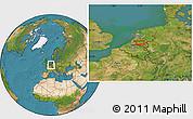 Satellite Location Map of 's-Hertogenbosch
