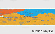 Political Panoramic Map of Gorinchem