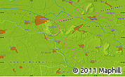 """Physical Map of the area around 51°43'18""""N,6°1'30""""E"""