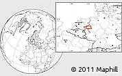 Blank Location Map of Dinslaken