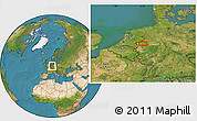 Satellite Location Map of Dinslaken