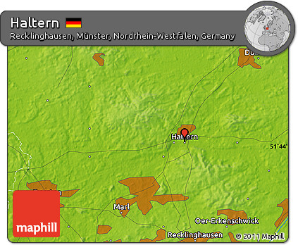 Free physical map of haltern physical map of haltern sciox Images