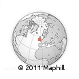 """Outline Map of the Area around 51° 43' 18"""" N, 6° 43' 29"""" W, rectangular outline"""
