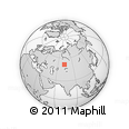 Outline Map of Ereymentau, rectangular outline