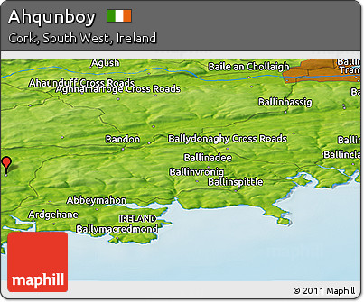 Physical Panoramic Map of Ahqunboy