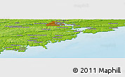 Physical Panoramic Map of Bandon