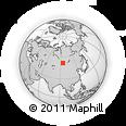 Outline Map of Kyzyl, rectangular outline
