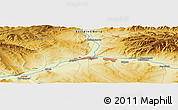 Physical Panoramic Map of Kyzyl