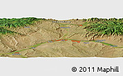 Satellite Panoramic Map of Kyzyl