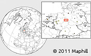 """Blank Location Map of the area around 51°43'18""""N,9°25'30""""E"""