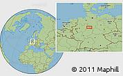 "Savanna Style Location Map of the area around 51°43'18""N,9°25'30""E"