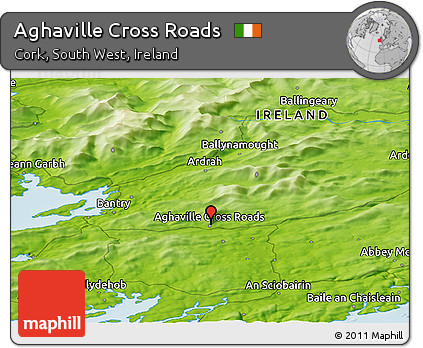 Physical Panoramic Map of Aghaville Cross Roads