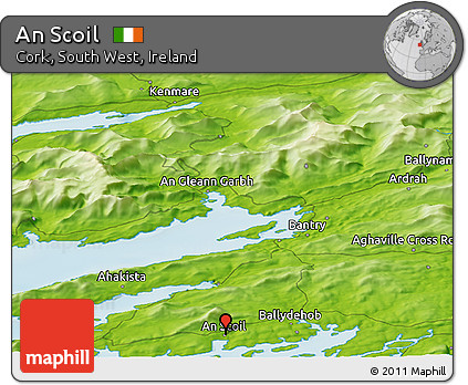 Physical Panoramic Map of An Scoil