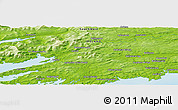 Physical Panoramic Map of Bantry