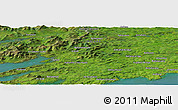 Satellite Panoramic Map of Barna Cross Roads