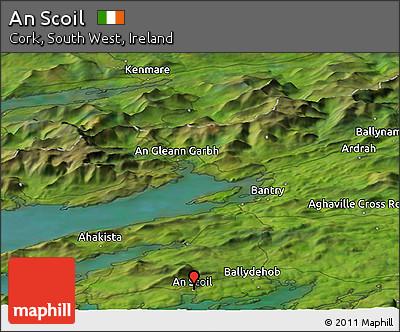 Satellite Panoramic Map of An Scoil