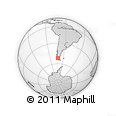 Outline Map of Torres Del Paine National Park, rectangular outline