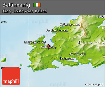 Physical Map of Ballineanig