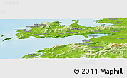 Physical Panoramic Map of Ballineanig