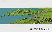 Satellite Panoramic Map of Aglish