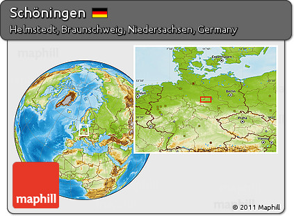 Free Physical Location Map of Schningen