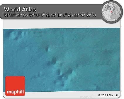 """Satellite 3D Map of the Area around 52°6'54""""N,11°49'29""""W"""