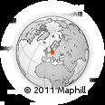 Outline Map of Dennewitz, rectangular outline