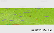 """Physical Panoramic Map of the area around 52°6'54""""N,12°49'29""""E"""