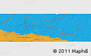 """Political Panoramic Map of the area around 52°6'54""""N,12°49'29""""E"""