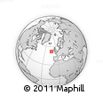 """Outline Map of the Area around 52° 6' 54"""" N, 13° 31' 30"""" W, rectangular outline"""