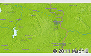"""Physical 3D Map of the area around 52°6'54""""N,14°31'30""""E"""