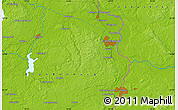 """Physical Map of the area around 52°6'54""""N,14°31'30""""E"""