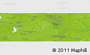 """Physical Panoramic Map of the area around 52°6'54""""N,14°31'30""""E"""