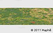 Satellite Panoramic Map of Zielona Góra