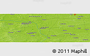 "Physical Panoramic Map of the area around 52° 6' 54"" N, 18° 46' 29"" E"