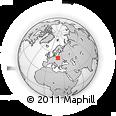 Outline Map of Podkowa Lesna, rectangular outline
