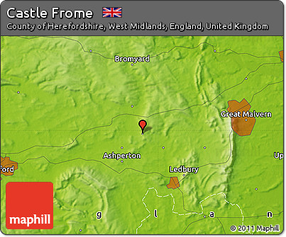 Free Physical Map of Castle Frome