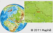 Physical Location Map of Komarov