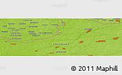Physical Panoramic Map of Komarov