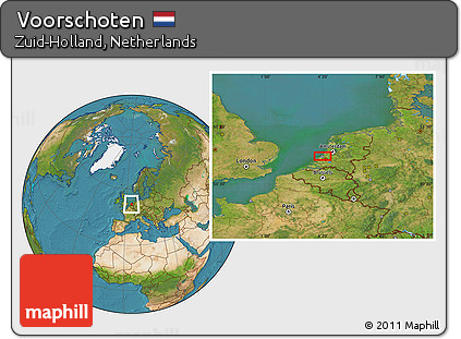 Free Satellite Location Map of Voorschoten