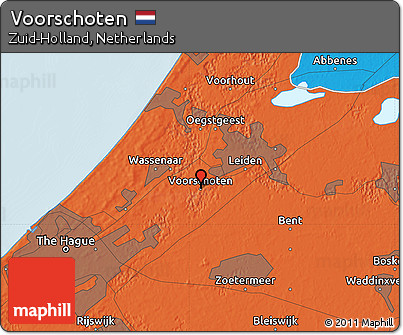 Free Political Map of Voorschoten