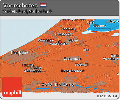 Free Political Panoramic Map of Voorschoten