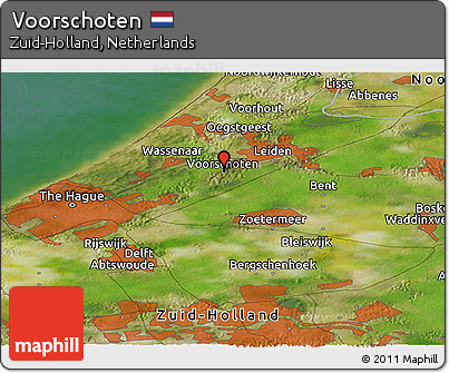 Free Satellite Panoramic Map of Voorschoten
