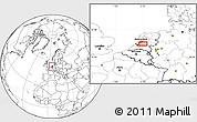 Blank Location Map of Utrecht