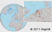 Gray Location Map of Utrecht