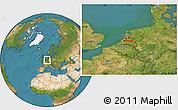 Satellite Location Map of Utrecht