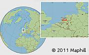 Savanna Style Location Map of Utrecht
